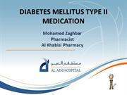 DIABETES MELLITUS TYPE II MEDICATION