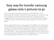 Easy way for transfer samsung galaxy note ii pictures to pc