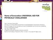 Universal aid for physically challenged