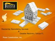 Residential Remodeling Services Tampa Florida-Rossi Construction