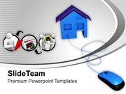 Online Buying Of Homes Real Estate PowerPoint Templates PPT Themes And