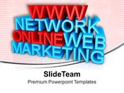 Online Networking Business Marketing PowerPoint Templates PPT Themes A