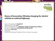 Wireless charging for electric vehicles in national highways