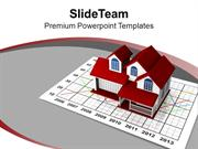Graph Going Up And Down Real Estate PowerPoint Templates PPT Backgroun