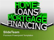 Home Loans Financial Investment PowerPoint Templates PPT Backgrounds F