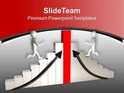 Men Running On Graph To Achieve Success PowerPoint Templates PPT Theme