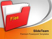 Red Folder With Files Information PowerPoint Templates PPT Themes And