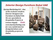 Hotels Lamps and Lighting Supplier in Dubai UAE