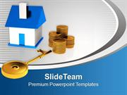 Small House With Money And Key Business PowerPoint Templates PPT Theme