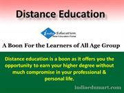 Distance Education - A Boon For the Learners of All Age Group