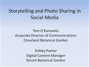 Storytelling and Photosharing
