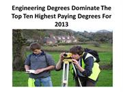 Engineering Degrees Dominate The Top Ten Highest Paying Degree