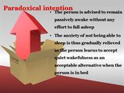 Insomnia - Part III for Pharm D Students