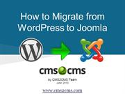 How to Migrate from WordPress to Joomla