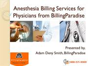 Anesthesia Billing Services for Physicians from Billing Paradise