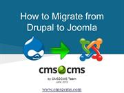 How to Migrate from Drupal to Joomla