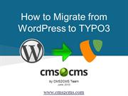 How to Migrate from WordPress to TYPO3