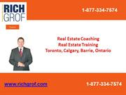 Real Estate Coaching, Real Estate Training  Toronto, Calgary, Barrie,