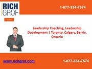 Leadership Coaching, Leadership Development  Toronto, Calgary, Barrie,