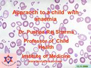 Approach  to a chiild wtih anaemia