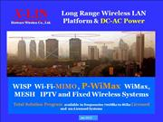 P-WiMax -WISP-WiFi-WiMax MESH Systems 2013 R6.0