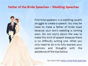 Father of the Bride Speeches - Wedding Speeches