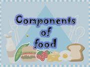 Components of food -Nishu Sindhu-
