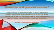 What makes an Organisation Innovative?