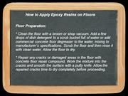 How to Apply Epoxy Resins on Floors