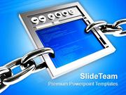 3d Illustration Of A Internet Browser PowerPoint Templates PPT Themes