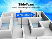 Board Of Productivity In Labyrinth PowerPoint Templates PPT Themes And