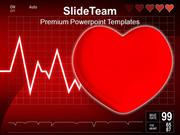 Cardiogram With Heart Medical PowerPoint Templates PPT Themes And Grap
