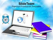 Concept Of Modern Education And Online Learning PowerPoint Templates P