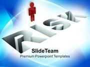 Image Of 3d Man With Risk PowerPoint Templates PPT Themes And Graphics