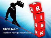 Image Of Risk Concept With Red Cubes PowerPoint Templates PPT Themes A