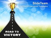 Image Of Road To Victory PowerPoint Templates PPT Themes And Graphics