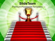 Image Of Stairway To Winner Trophy PowerPoint Templates PPT Themes And