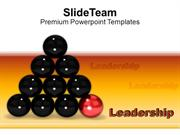 Red Ball Leads Other Balls Leadership PowerPoint Templates PPT Themes