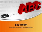 Computer Mouse With Letters ABC PowerPoint Templates PPT Themes And Gr