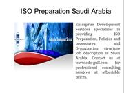 ISO Preparation Saudi Arabia