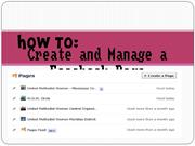 how to create and manage a facebook page ppt