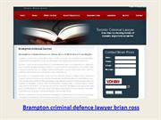 Brampton criminal defence lawyer brian ross