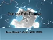 Lec #4 - pain and pain theories