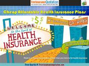 Cheap Affordable Health Insurance Plans
