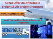 Great Offer on Affordable Freight & Air Freight Transport