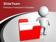 3d Man Giving Information Of Folder PowerPoint Templates PPT Themes An