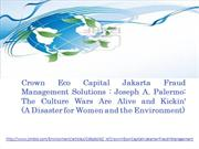 Crown Eco Capital Jakarta Fraud Management Solutions Joseph A. Palermo