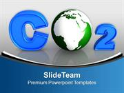 CO2 With Green Earth Globe PowerPoint Templates PPT Themes And Graphic