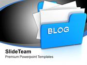 Computer Folder With Blog PowerPoint Templates PPT Themes And Graphics