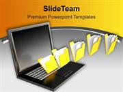 Concept Of File Sharing Communication PowerPoint Templates PPT Themes